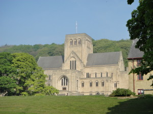 Ampleforth - the Abbey Church from the Valley