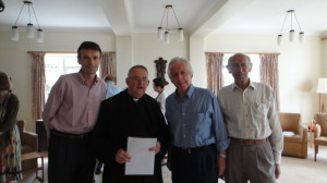 Robert Rigby, Fr Terence (Prior), Lord Brennan, John Barrie